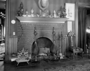 Fireplace, Sanborn-Raymond House, 125 Magazine Street, Cambridge, Mass., undated