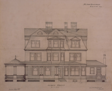 Set of architectural drawings of the Thomas Wigglesworth House, Manchester, Mass., Feb. 1889