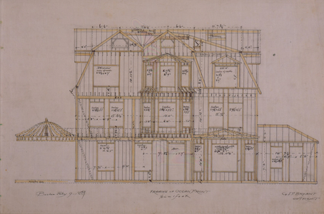 Framing plan of the Thomas Wigglesworth House, Manchester, Mass., Feb. 9, 1889