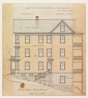 Set of architectural drawings of the John McCarthy and William Kallady Houses, Roxbury, Boston, Mass., Jan. 26, 1897