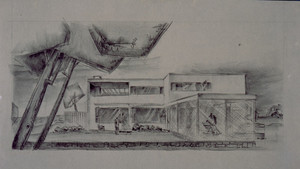 Design for an unidentified house, location unknown, 1920s-1950s
