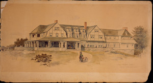 Presentation perspective of the Islesboro Inn, Islesboro Island, Maine, 1888-1889