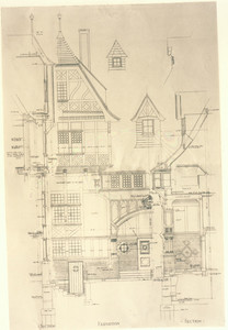 Detail working drawing of the Head House, Marine Park, South Boston, Mass., 1898