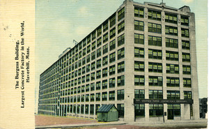 The Burgess Building, largest concrete factory in the world, Haverhill, Mass.