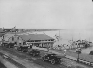 View of the Cottage Club and Pier from Terrace Gables, Falmouth Heights, Mass., undated
