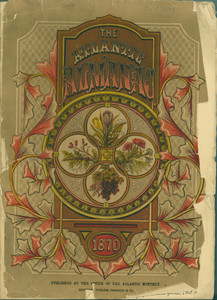 Front cover of the 1870 Atlantic Almanac
