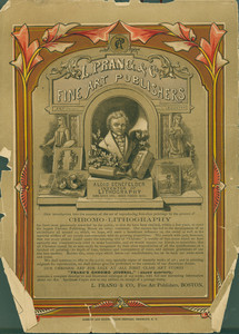 Back cover of the 1870 Atlantic Almanac with L. Prang and Co. Fine Art Printers advertisement