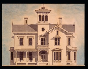 Front elevation of the Walter Aiken House, Franklin, N.H., ca. 1868