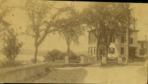 Castle Tucker, as seen from the street side of the house, Wiscasset, Maine, undated