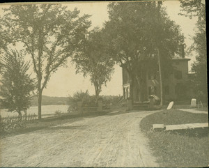 Exterior view of Castle Tucker with driveway, Wiscasset, Maine, undated