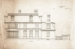 East elevation of the Arthur T. Lyman House, Waltham, Mass.