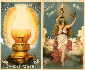 Brochure for the Electric Argand Burner, 65 candle power, location unknown, undated