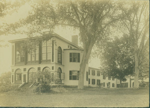 Exterior view of Castle Tucker from a three-quarter angle, Wiscasset, Maine, undated