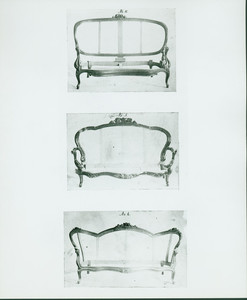 Settees, no. 4 - 6, John A. Ellis furniture designs