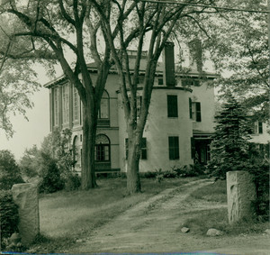 Exterior view of Castle Tucker and front yard, as seen from across the street on the north side, Wiscasset, Maine, undated