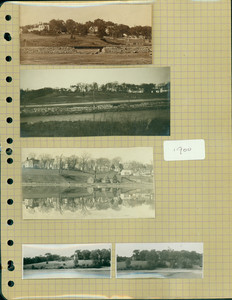 Tucker Family photograph album, exterior views, page one, Wiscasset, Maine, 1900