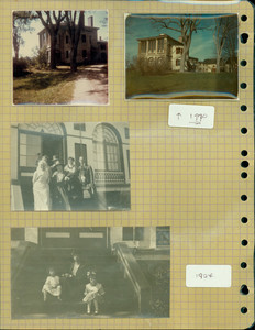 Tucker Family photograph album, exterior views and group portraits, page six, Wiscasset, Maine, 1924-1970