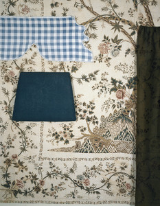 Wallpaper and fabric fragments, Sayward-Wheeler House, York Harbor, Maine