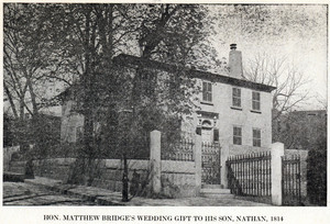 Hon. Matthew Bridge's wedding gift to his son, Nathan, 1814