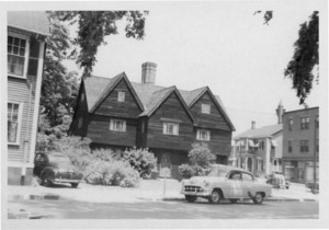 Exterior view of the Old Witch / Corwin House, North and Essex Sts., Salem