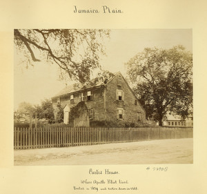 Exterior view of the Curtis House, Jamaica Plain, Mass.