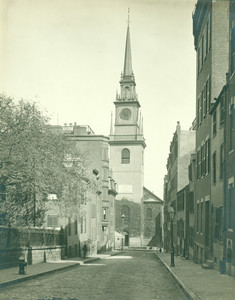 View of Hull Street and the Old North Church, Boston, Mass., undated