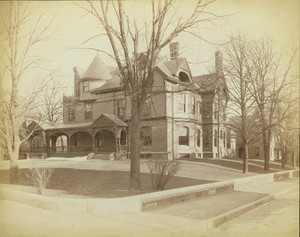 Exterior view of a Queen Anne style house, Waverley and Perrin Streets, Roxbury, Mass., undated