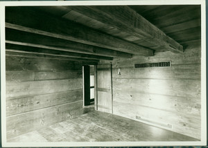 Interior view of the restored south front interior of the Whitfield House, Guilford, Conn.