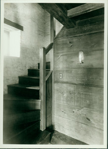 Restored Interior Stair Tower, Whitfield House, Guilford, Conn.