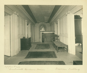 Upper hall, extreme position, Wentworth-Gardner House, Portsmouth