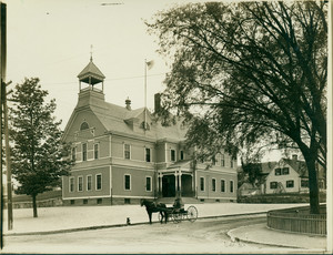 Exterior view of the Washington School, East Weymouth, Mass., undated