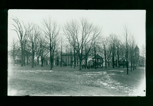 Children on the Common, looking southeast from Brick School House, Shrewsbury, Mass., undated