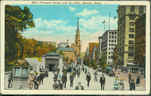 Tremont St. and the Mall, Boston, Mass.