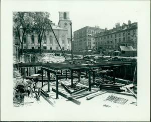 Construction of the Tremont St. Subway, Park and Tremont Sts., Boston, Mass., 1895-1896
