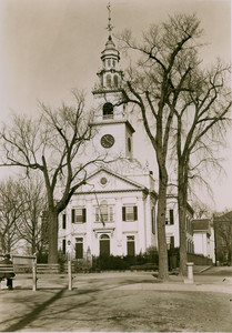 Exterior view of the First Parish Meeting House, Dorchester, Mass., undated