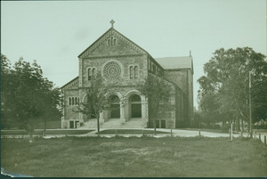 Exterior view of St. Anthony's Church, Allston, Mass., undated