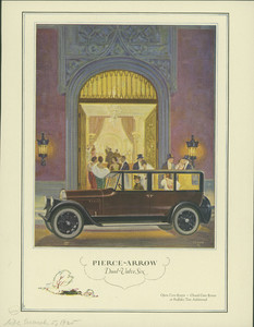 Advertisement for the Pierce-Arrow Dual Valve Six Automobile, Life Magazine, March 5, 1925