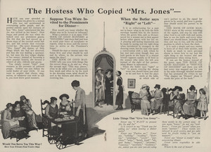 Hostess who copied Mrs. Jones, location unknown, 1923