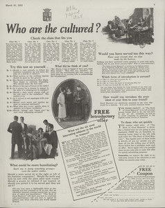 Who are the cultured?, location unknown, March 31, 1923