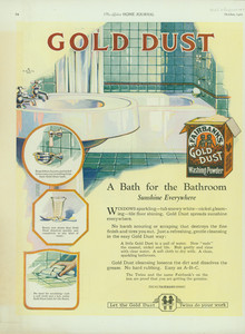 Advertisement for Fairbank's Gold Dust Washing Powder, location unknown, October 1922