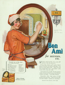 Advertisement for Bon Ami, cleaner, The Bon Ami Company, New York, New York, March 1924