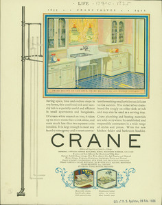 Advertisement for the Crane Company, plumbing, 636 S. Michigan Avenue, Chicago, Illinois, December 17, 1925