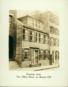 Christmas card from the Pinckney Club Restaurant, Pinckney Street, Boston, Mass., undated