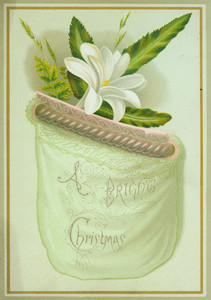 Christmas card, featuring a floral design, undated