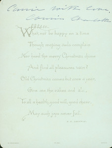 Christmas card verso, W. Hagelberg, Berlin, undated