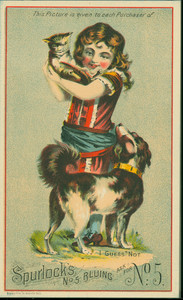 Trade card for Spurlock's No. 5 bluing, location unknown, undated