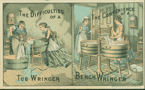 Trade card for the Bench Wringer, American Wringer Company, New York, New York, undated