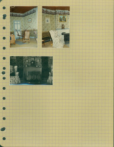 Tucker Family photograph album, interior views, parlor, page thirty-three, Wiscasset, Maine, undated