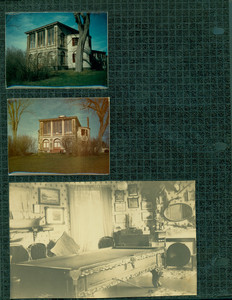Tucker Family photograph album, Castle Tucker facade and pool table, page twenty-six, 1935-1979