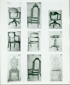 Tables and chairs, no. 10 - 18, John A. Ellis furniture designs